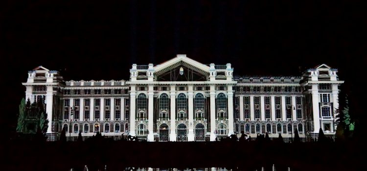 3D mapping a Debreceni Egyetem épületénél