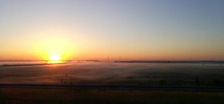 Napkelte az autópályán