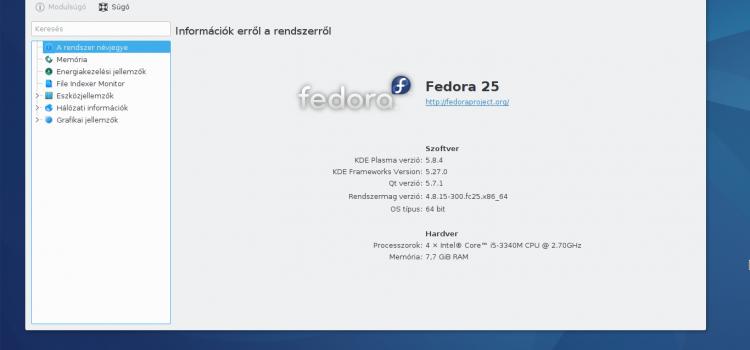 Fedora 25 tárolók és kiegészítők