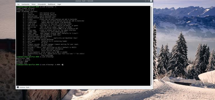 UEFI szerkesztése Linux alatt