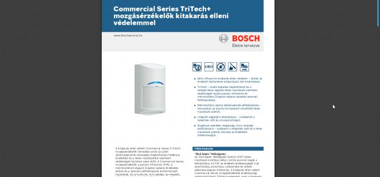 Bosch Commercial Series TriTech+